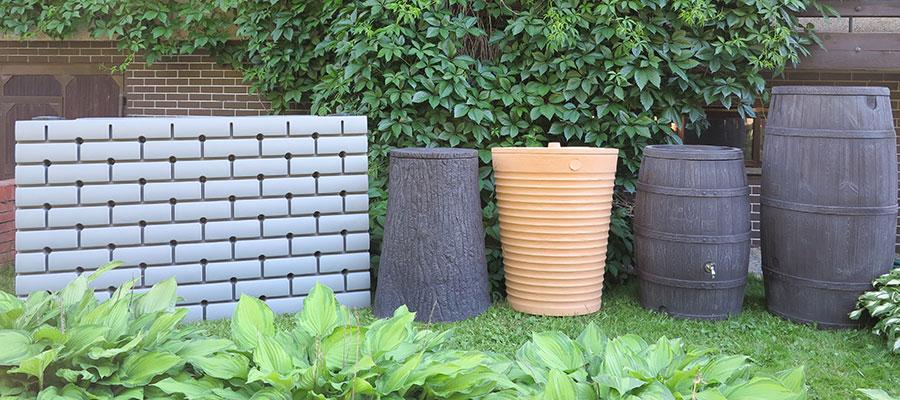 Декоративные ёмкости для дождевой воды